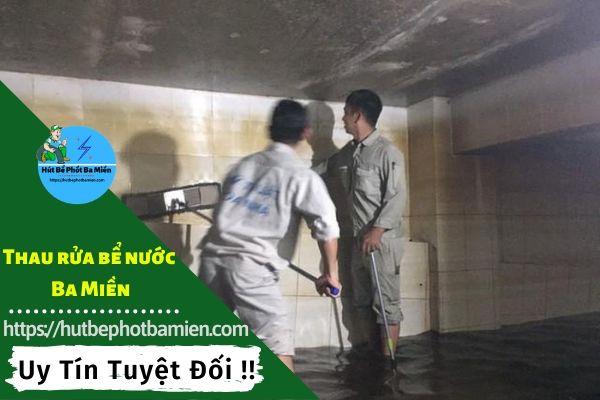 Thau rửa vệ sinh bể nước tại Huyện Cần Giờ