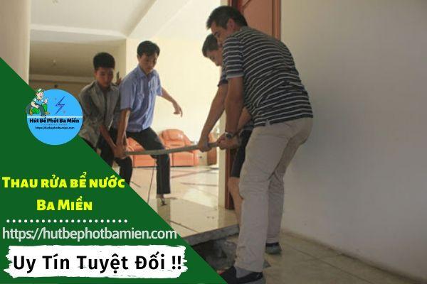 Thau rửa vệ sinh bể nước tại Quận Tân Phú